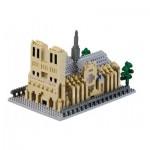 Brixies-58736 Nano Puzzle 3D - Cathédrale Notre Dame de Paris (Level 5)