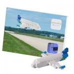 Brixies-58811 Nano Puzzle 3D - Avion