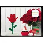 Brixies-58815 Nano Puzzle 3D - Carte Postale Rose