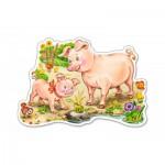 Castorland-015016 Le Porcelet et sa Mère