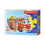Castorland-015078 Camion de Pompier