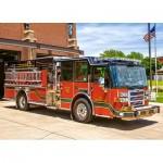 Castorland-018352 Camion de Pompier