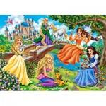 Castorland-018383 Princesses au Jardin