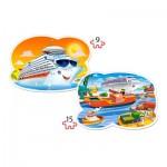 Castorland-020102 Pièces XXL - Sea Adventures
