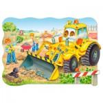 Castorland-02139 Pièces maxi - Bulldozer en action