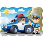 Castorland-02252 Pièces XXL - Patrouille de Police