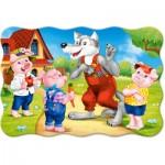 Castorland-02399 Pièces XXL - Les 3 Petits Cochons