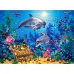 Castorland-030149 Dolphin Family