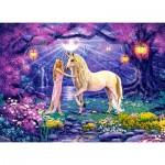 Castorland-030224 Unicorn Garden