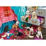 Castorland-030392 Puppies in the Garden