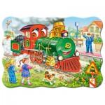 Castorland-03433 Locomotive Verte