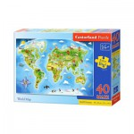 Castorland-040117 Pièces Maxi - Carte du Monde