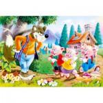 Castorland-06519 Les 3 petits cochons