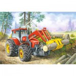 Castorland-06601 Tracteur du Forestier