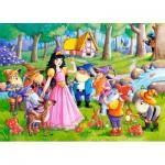 Castorland-066032 Blanche Neige et les 7 Nains
