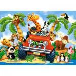 Castorland-06793 Peluches en Safari