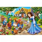 Castorland-08521-B2-1 Mini Puzzle - Blanche Neige
