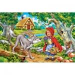 Castorland-08521-B2-3 Mini Puzzle - Le Petit Chaperon Rouge