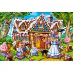 Castorland-08521-B2-8 Mini Puzzle - Hansel & Gretel