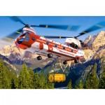 Castorland-08521-LO1 Mini Puzzle - Hélicoptère