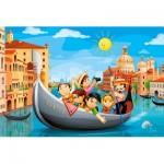 Castorland-08521-P4 Mini Puzzle - Venise