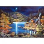 Castorland-102990 Chalet de Pêcheur au Clair de Lune