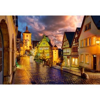 Castorland-103461 Rothenburg at Night