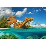 Castorland-103508 Dolphin Paradise