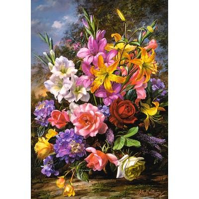 Castorland-103607 A Vase of Flowers