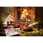 Castorland-103621 Still Life with Violin and Painting