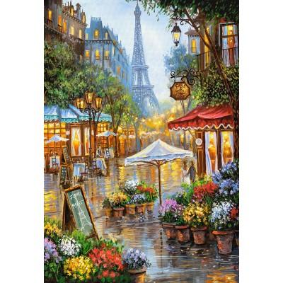 Castorland-103669 Spring Flowers, Paris