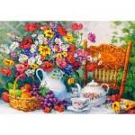 Castorland-103836 Time for Tea