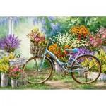 Castorland-103898 The Flower Mart