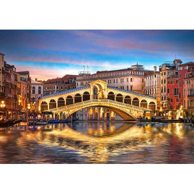 Castorland-104215 Rialto by Night, Venise