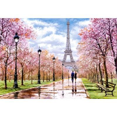 Castorland-104369 Romantic Walk in Paris