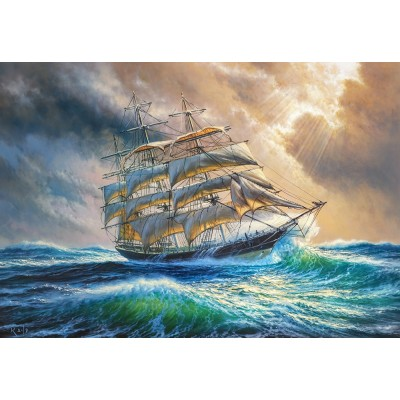 Castorland-104529 Sailing against all Odds
