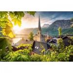 Castorland-104543 Postcard from Hallstatt