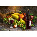 Castorland-104604 Des Fruits et du Vin