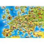 Castorland-111060 Carte d'Europe