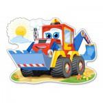 Castorland-120024 Pièces XXL - Bulldozer Joyeux