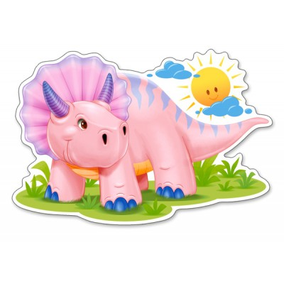 Castorland-120048 Pink Baby Triceratop