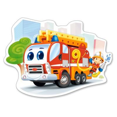 Castorland-120109 Pièces XXL - Camion de Pompier