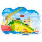 Castorland-120130 Pièces XXL - Un Journée au Port