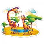 Castorland-120178 Pièces XXL - Girafes dans la Savane