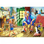 Castorland-12787 Pinocchio et Gepetto