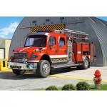 Castorland-12831 Camion de Pompier