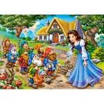 Castorland-13401 Blanche Neige et les 7 Nains