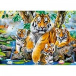 Castorland-13517 Tigers by the Steam