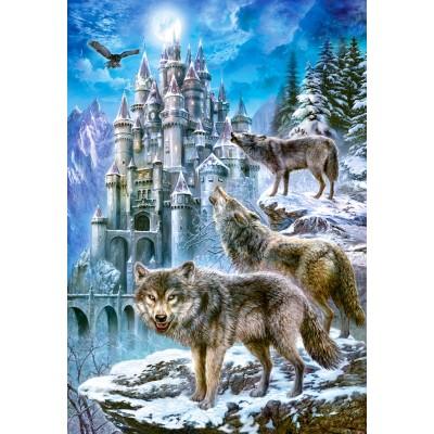 Castorland-151141 Loups devant le Château