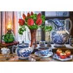 Castorland-151820 Still Life with Tulips